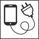 携帯充電用コンセント