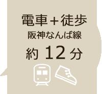 阪神なんば線と徒歩で約12分