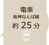 電車で約25分